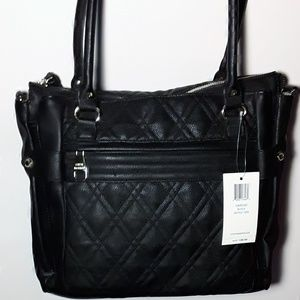 Steve Madden Bstitch Black tote handbag purse
